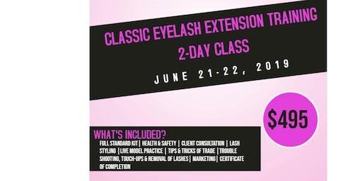 Classic Eyelash Extension Training   2-Day Class