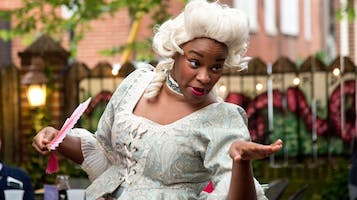 """""""Tartuffe"""" in the Outdoor Courtyard at Reynolds Tavern"""