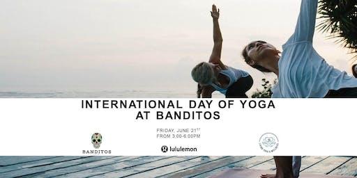 Banditos Oceanfront Yoga!