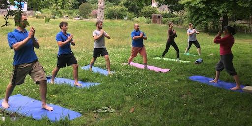Yoga at RSPB Arne