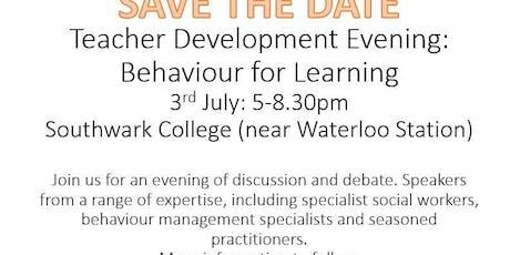 Teacher Development Evening: Promoting Behaviour for Learning tickets