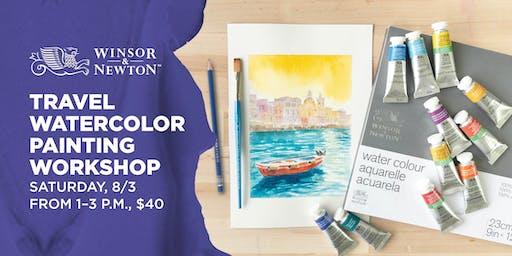 Travel Watercolor Painting Workshop at Blick Columbus Sawmill
