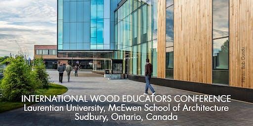 International Wood Educators Conference (SEPT 12-13, 2019)