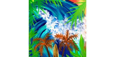 Retro Beach Art Paint Night tickets