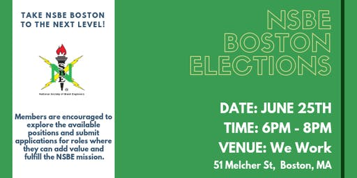 NSBE Boston Elections & Member Meetup