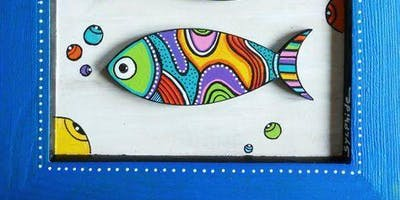 Kids Camp- Fish Painting on Canvas