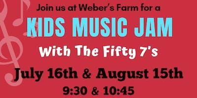 Kids Music Jam at Weber's Farm August 15th Session 1