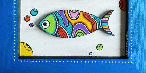 Kids Camp - Fish Painting on Canvas