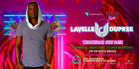 Neon Beach Wednesday's with Lavelle Dupree $2 drinks all night  tickets