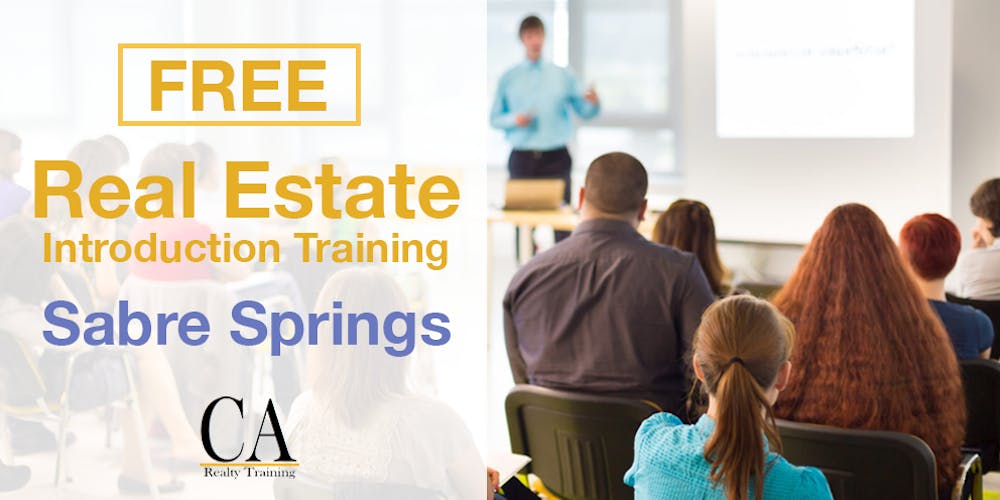 Free Real Estate Intro Session - Sabre Springs Tickets, Tue