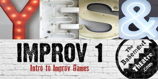 IMPROV 1 CLASS - INTRO TO IMPROV     (JUL-AUG)