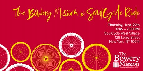 The Bowery Mission & SoulCycle Ride tickets
