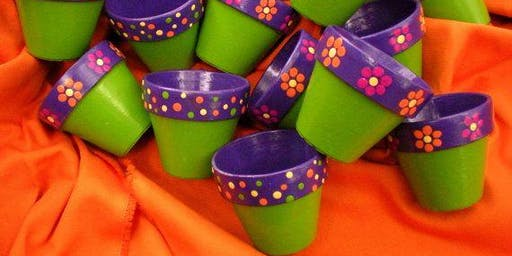 Kids Camp- Painting Pots and Planting Herbs