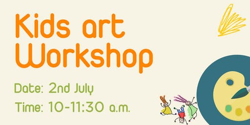 Kids Art Summer Workshop [Parents may use our Co-work space for a day]