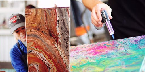 Flow Painting 101 with Lindsay's Art Cart