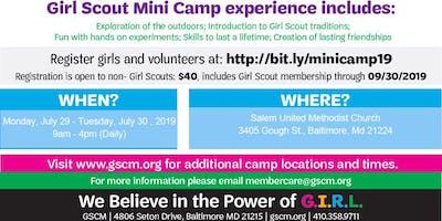 Girl Scout Mini Camp