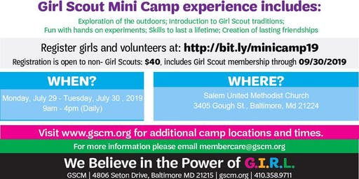 Girl Scout Mini Camp