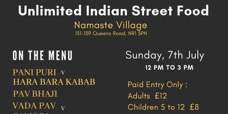 UNLIMITED INDIAN STREET FOOD tickets