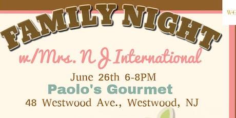 Family Night w/Mrs. NJ International tickets