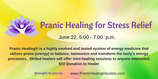 Pranic Healing for Stress Relief