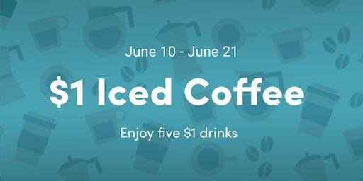 $1 Iced Coffee - Minneapolis