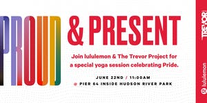 lululemon NYC Proud & Present outdoor yoga session