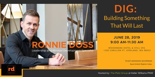 """Ronnie Doss """"Dig: Building Something That Will Last"""""""