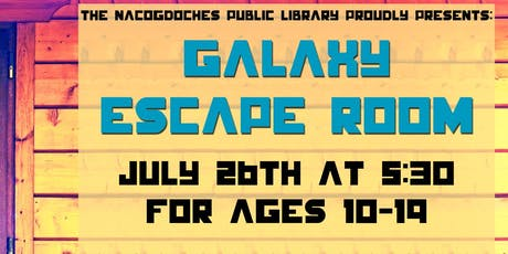 Galaxy Escape Room - Session I (ages 10-19 years) tickets
