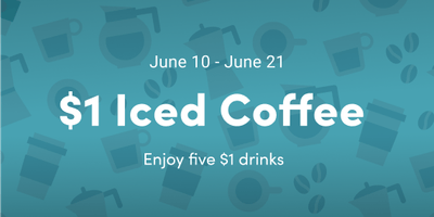 $1 Iced Coffee - Los Angeles