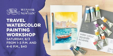 Travel Watercolor Painting Workshop at Blick Evanston tickets