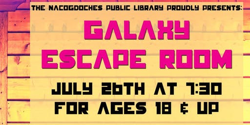 Galaxy Escape Room - Session II (ages 18+ years)
