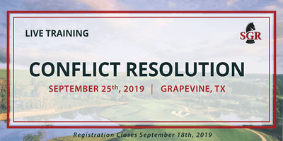 Conflict Resolution - Live Training - Grapevine, TX