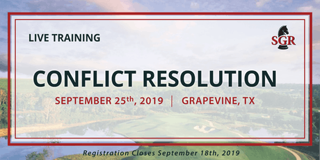 Conflict Resolution - Live Training - Grapevine, TX tickets