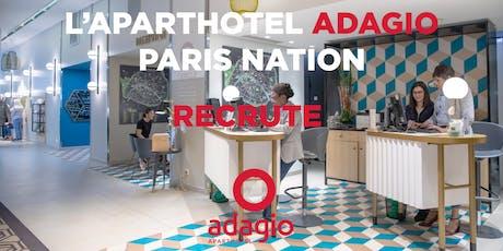 Journée de recrutement Aparthotels Adagio Paris Nation billets