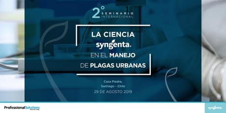 Seminario Internacional Plagas Urbanas entradas