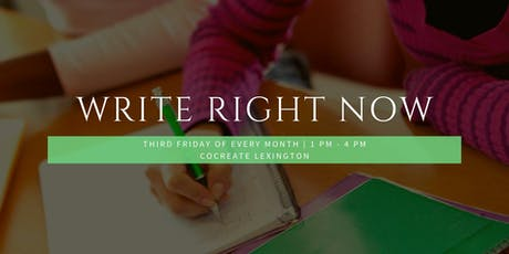 Write Right Now!  tickets
