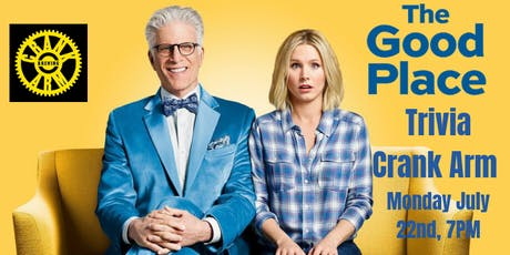 The Good Place Trivia at Crank Arm Brewing Company  tickets