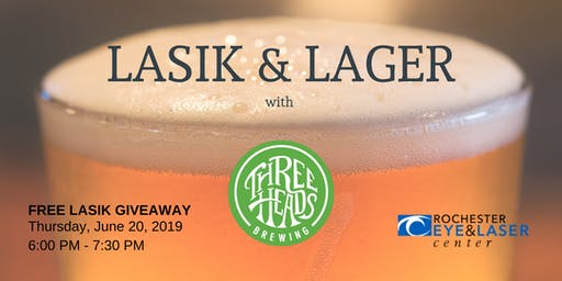 LASIK & Lager -Three Heads Brewing