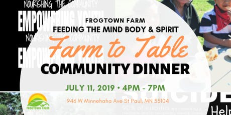 Frogtown Farm July Community Celebration! tickets