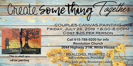 Create Something Together - Couples Canvas Painting tickets
