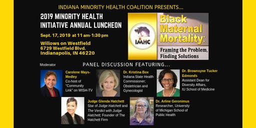 Indiana Minority Health Initiative Annual Luncheon 2019