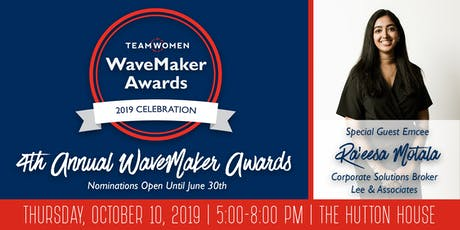 4th Annual TeamWomen WaveMaker Awards  tickets