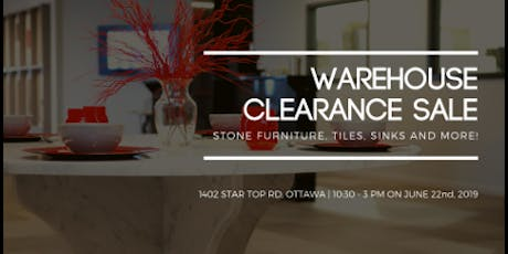 Warehouse Clearance Sale tickets
