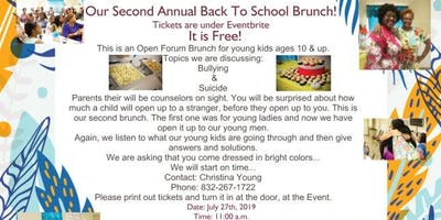"""Second Annual Back To School Brunch!"""