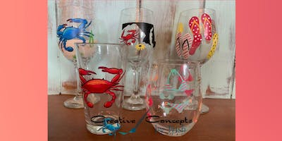A Summer in Maryland Glass Paint Night
