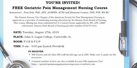 Geriatric Pain Management Nursing Course tickets