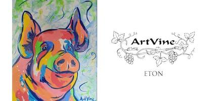 ArtVine, Sip and Paint in Eton, 18th September 2019
