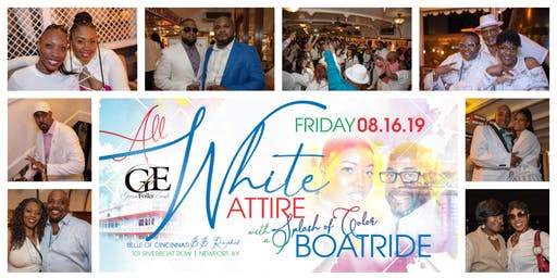 ALL WHITE ATTIRE w/ a SPLASH OF COLOR BOAT RIDE | CINCINNATI