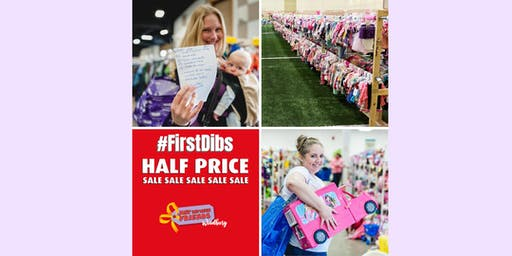 Half-Price #FirstDibs Presale - Sept 20, 2019