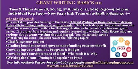 GRANT WRITING BASICS 101 tickets